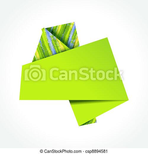 Colorful origami speech bubble - csp8894581