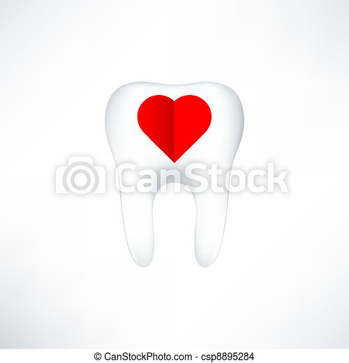 Tooth  On White Background. Vector Illustration - csp8895284