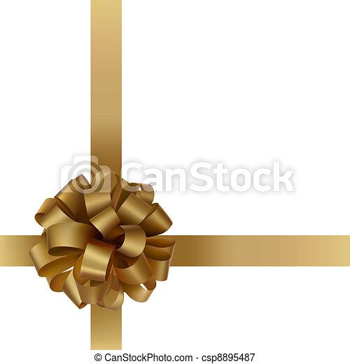 Golden bow - csp8895487