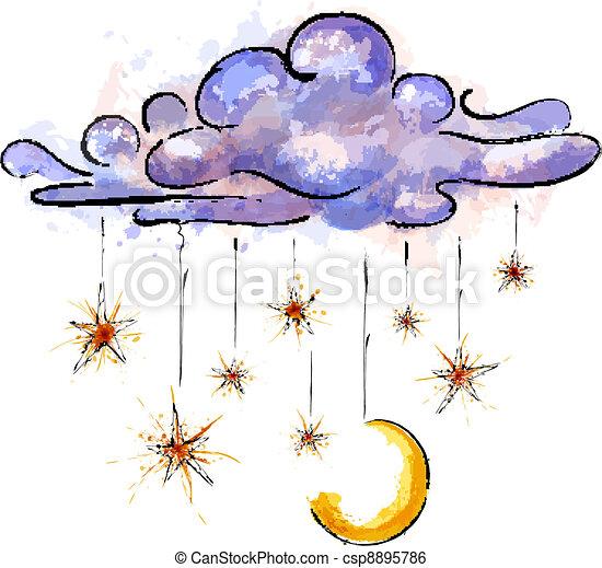 Starry night - csp8895786