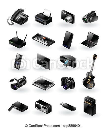 Mixed electronics icon set - csp8896401