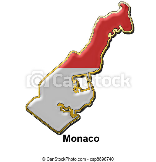Illustration de m tal cusson pingle monaco carte - Ecusson monaco ...