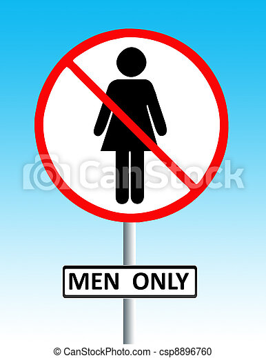 men only sign - csp8896760