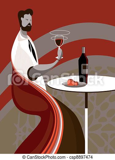 Taste wine - csp8897474