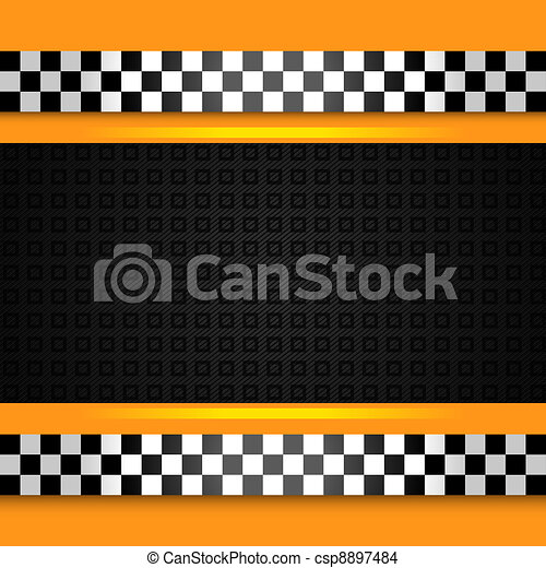 Taxi cab background close up - csp8897484