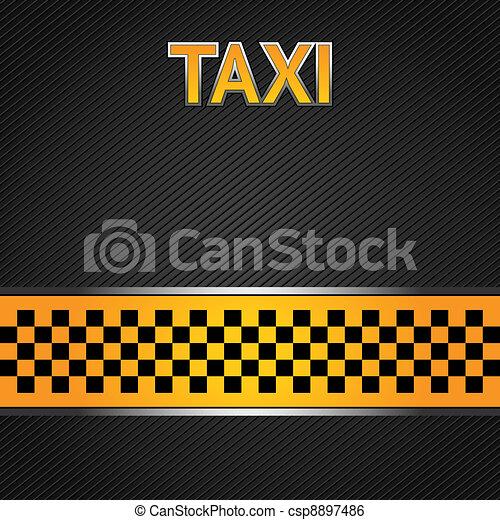 Taxi cab background - csp8897486