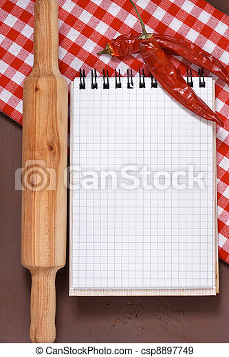 Culinary notebook. - csp8897749
