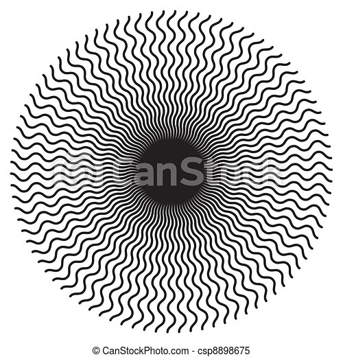 Zigzag Spiral Design Pattern - csp8898675