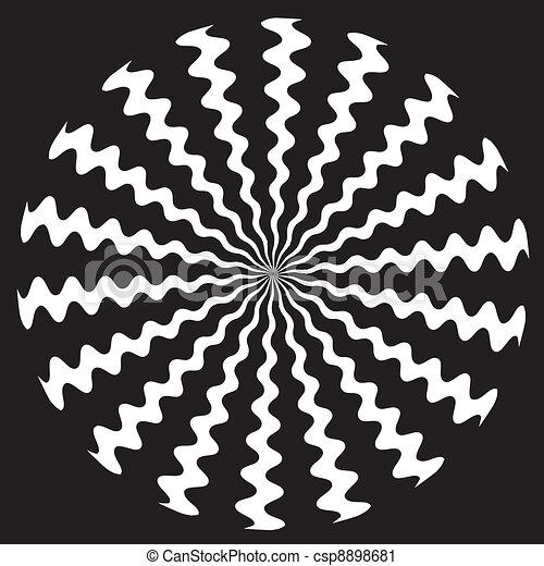 Zigzag Spiral Design Pattern - csp8898681