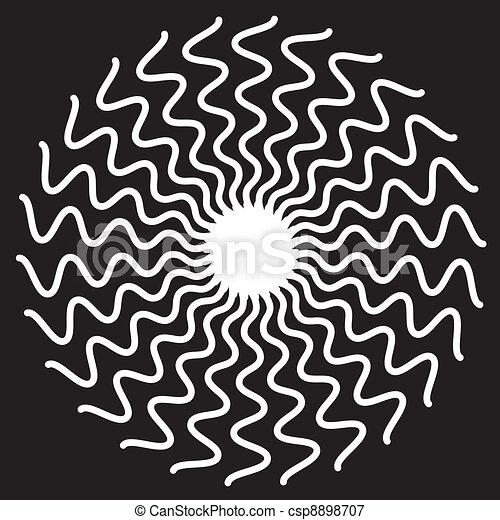 Zigzag Spiral Design Pattern - csp8898707