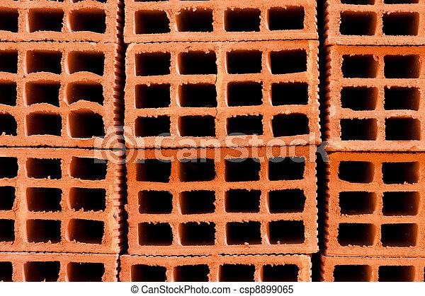 stock bilder von ziegelsteine hohl a stapel von hohl ziegelsteine a csp8899065. Black Bedroom Furniture Sets. Home Design Ideas