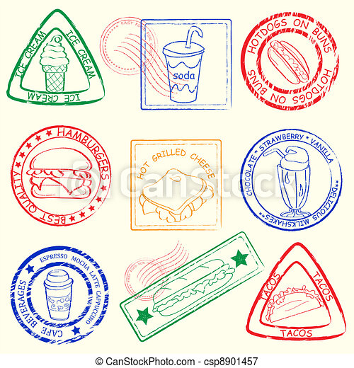 Fast Food Stamps Set - csp8901457