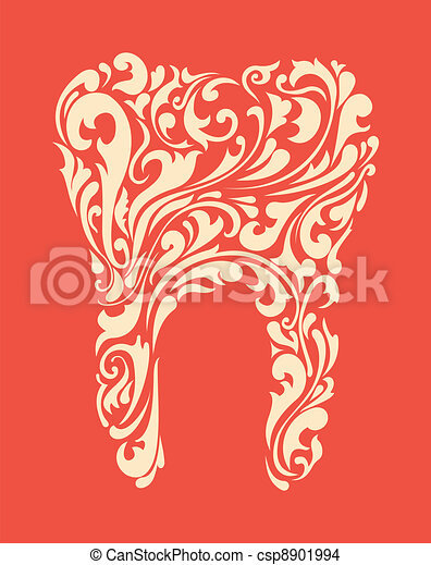abstract floral teeth - csp8901994
