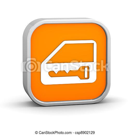 Car lock sign - csp8902129