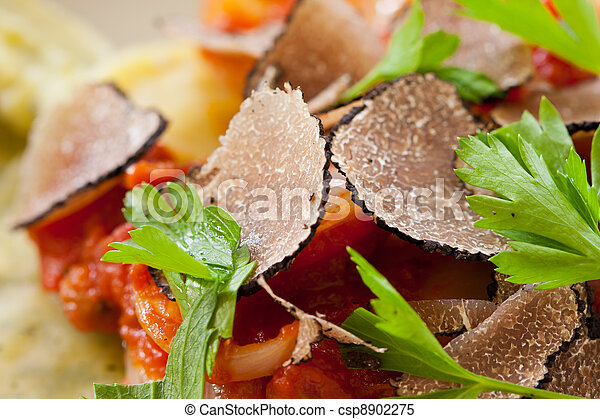 Black truffle ravioli pasta - csp8902275