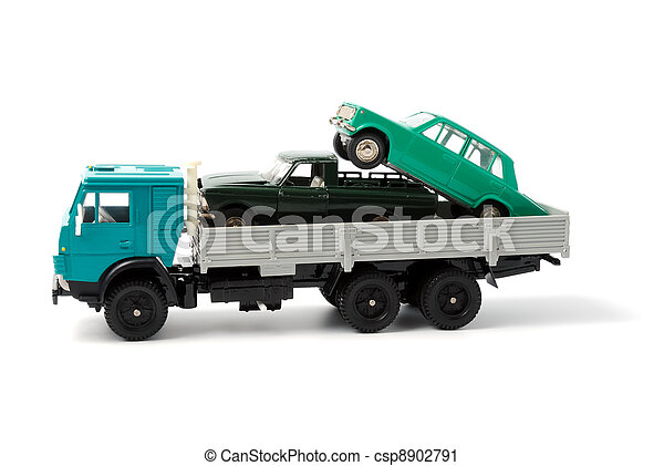 Transportation of toy cars for disposal - csp8902791