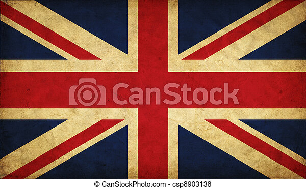 United Kingdom grunge flag - csp8903138