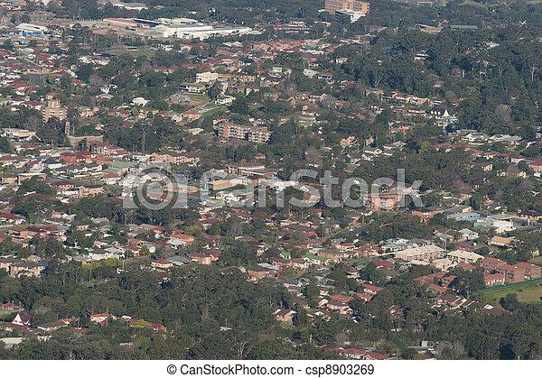 wollongong city and suburbs - csp8903269