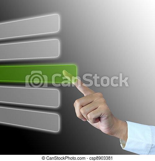 Business man press choice - csp8903381