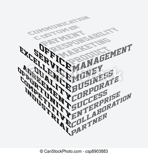 Business terms typography - csp8903883