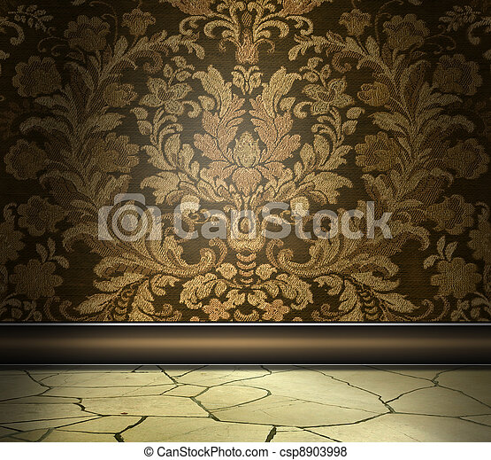 Rich Damask Wall - csp8903998