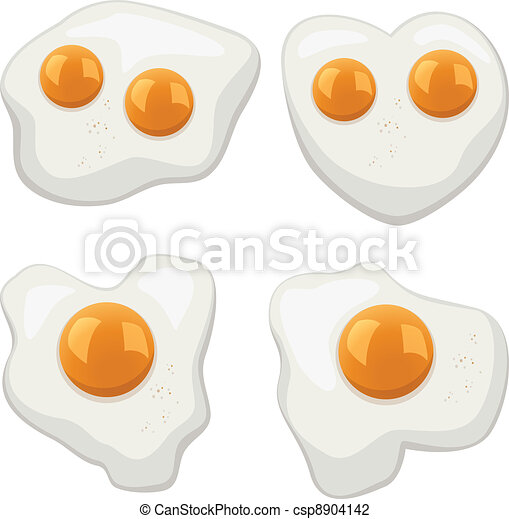 vector set of fried eggs - csp8904142