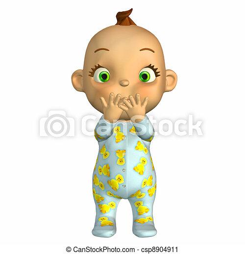 Naughty baby cartoon - csp8904911
