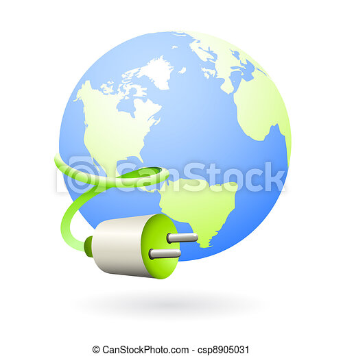 Earth clean energy source icon - csp8905031