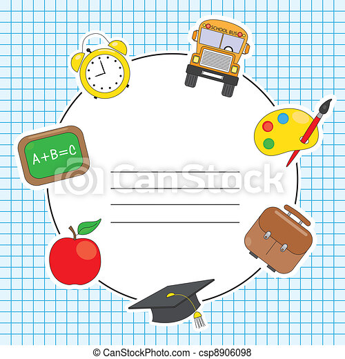 Education and school icon set - csp8906098