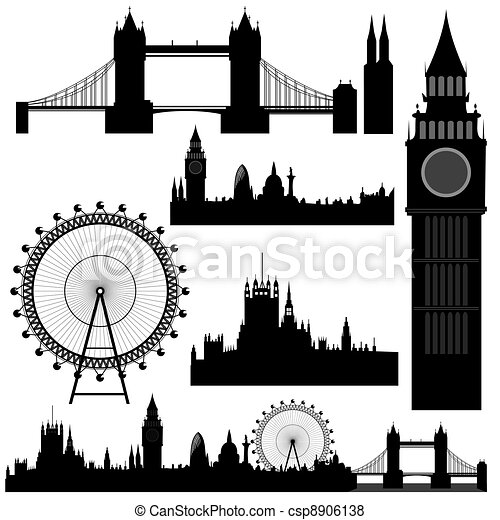vector London landmarks - csp8906138