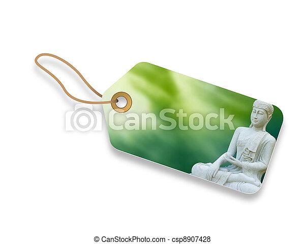 Buddha Tag - csp8907428