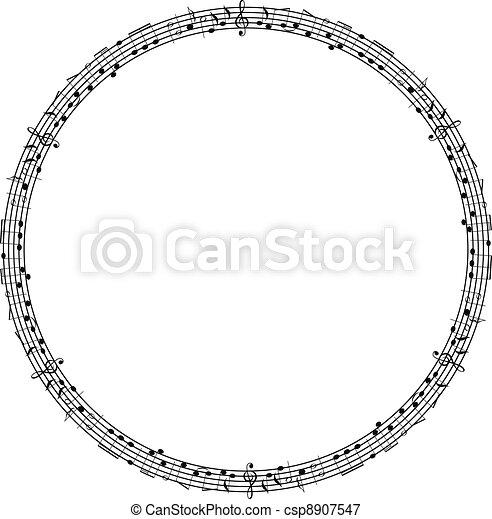 Vector musical theme frame - csp8907547