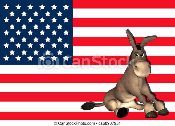 Democrat Donkey - csp8907951
