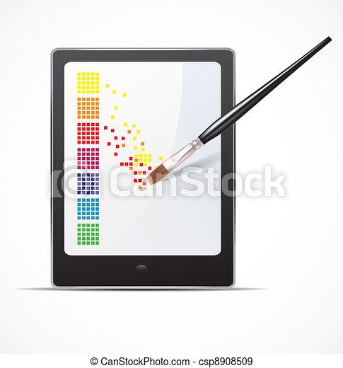 Digital art concept - csp8908509