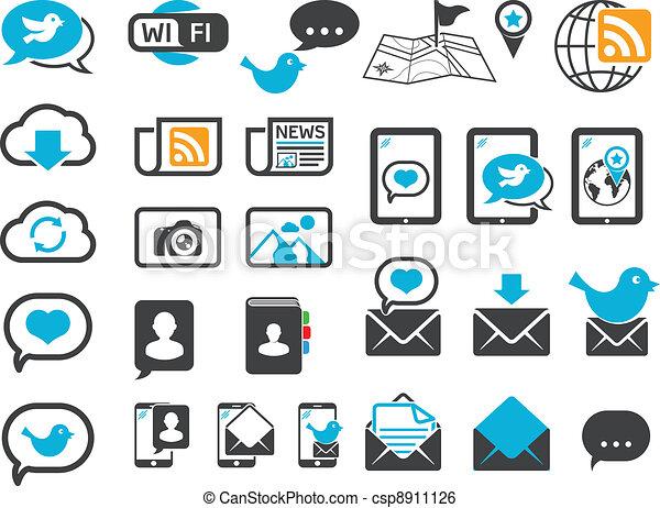 Modern communication icons - csp8911126