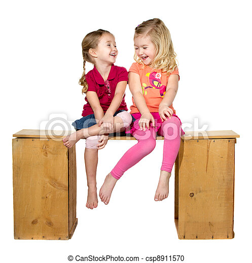 Two children laughing - csp8911570