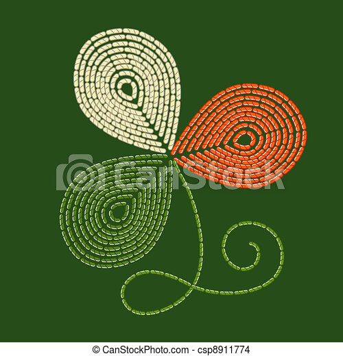 Embroidery trefoil - csp8911774