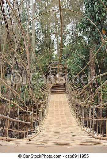stock bilder von aufh ngung bambus br cke an wasser herbst in csp8911955 suchen sie. Black Bedroom Furniture Sets. Home Design Ideas