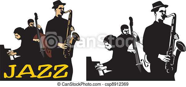 jazz band - old school - csp8912369