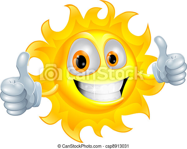 Sun man cartoon character - csp8913031
