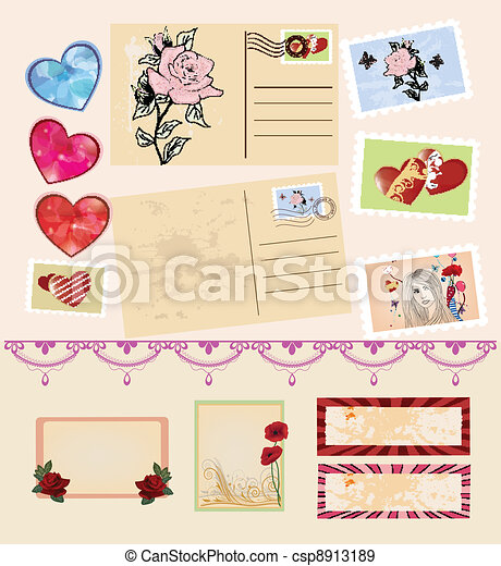 stationery items collection - csp8913189