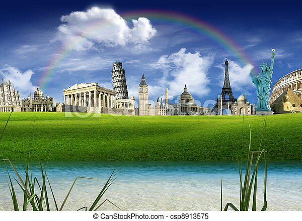 Stock images of travel around the world architecture and for Monumental buildings around the world