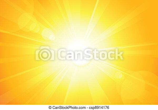 Bright vector sun with lens flare - csp8914176