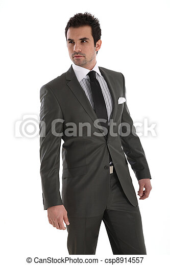 Elegant handsome man in suit - csp8914557