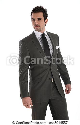 Elegant handsome man in suit - csp8914557