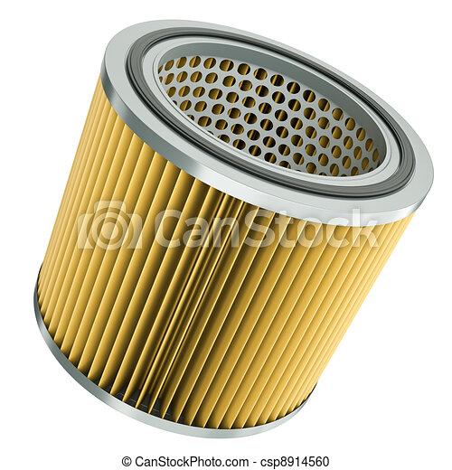 illustration de air filtre voiture moteur air filtre 3d render csp8914560 recherchez. Black Bedroom Furniture Sets. Home Design Ideas