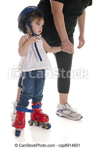Skating's Scary, Mommy - csp8914601