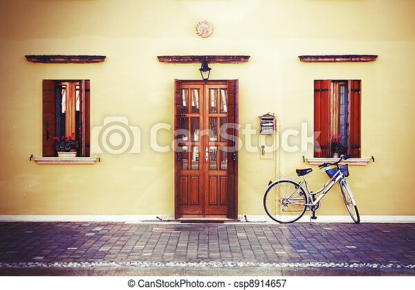 Bike by the wall - csp8914657
