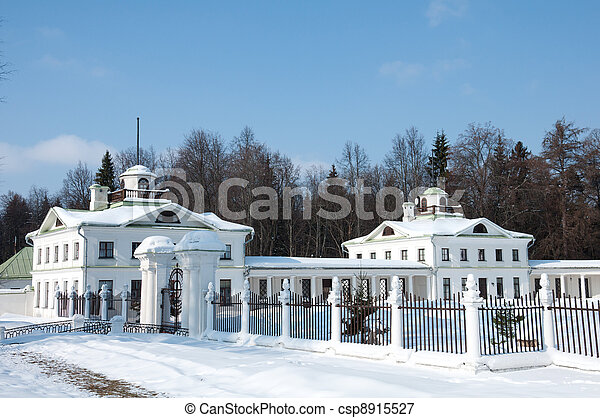Manor of the great Russian poet of the 18th century - Lermontov - csp8915527