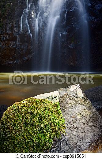 idyllic paradise waterfall - csp8915651